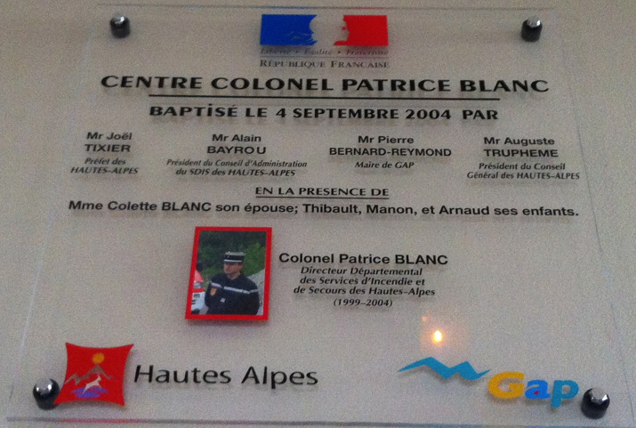 Hommage Colonel Patrice Blanc